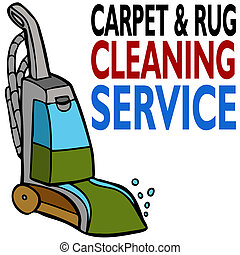 rensning, service, matta