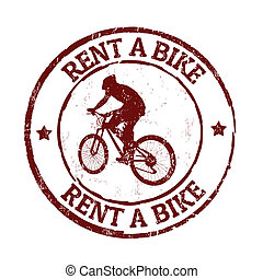 Rent a bike stamp