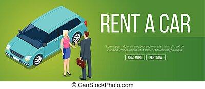 Rent a car banner