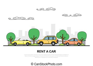 rent a car concept banner