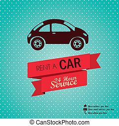Rent a car - Illustration of rent a car, Vintage label ...