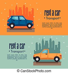 Rent a car infographic