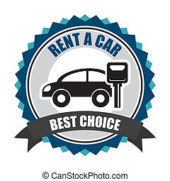 rent a car over white background vector illustration