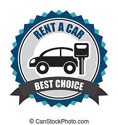rent a car over white background vector illustration