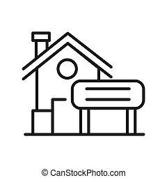 rent a house vector illustration design