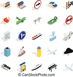Rent a vehicle icons set, isometric style - Rent a vehicle...