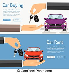 Rent amd Buying Car Banner for Poster, Web Site, Advertising...