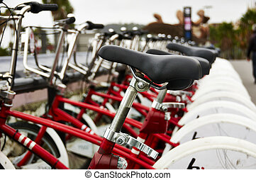 Rent bikes parking