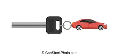 Rent car business concept with car key