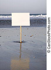 beach sign ready for rent, holliday, sold, you write your text....