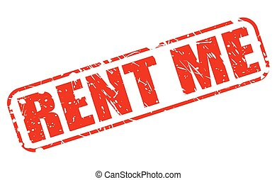 RENT ME red stamp text on white