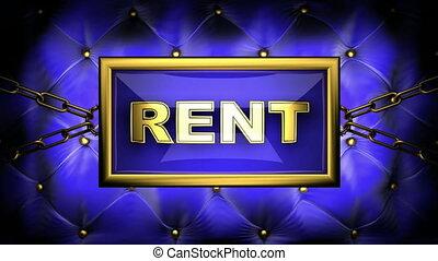 rent  on velvet background