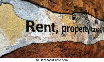 Rent tax insurance grunge concept