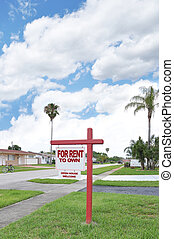 Rent to Own Real Estate Sign