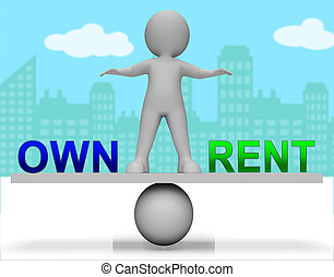 Rent Vs Own Seesaw Contrasting Property Purchase And Leasing...