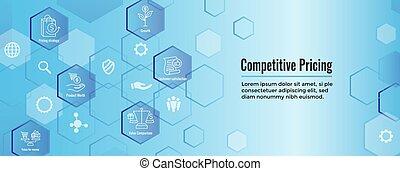 rentabilidad, conjunto, y, competitivo, crecimiento, valorar, valor, icono