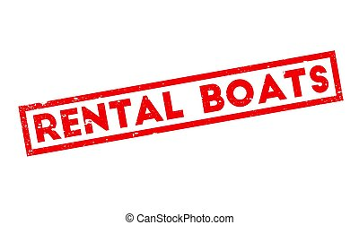 Rental Boats rubber stamp. Grunge design with dust...