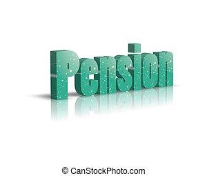 rente / pension 3d word