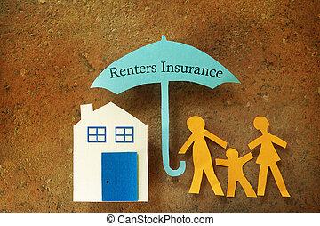 renters, 保険, 傘