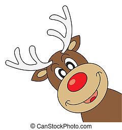 rentier, wünschen, weihnachten, fröhlich