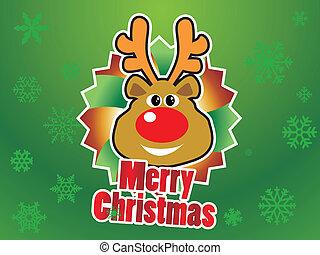 rentier, weihnachten