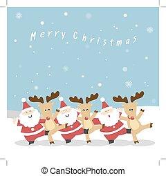rentier, weihnachten, santa