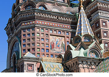 renversé, saint-petersburg, sanguine, sauveur, église