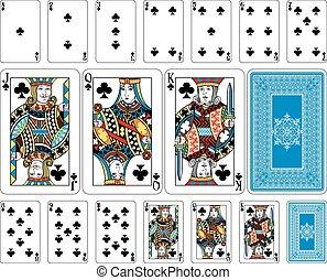 renverser, jouer, club, taille, cartes, plus, pont