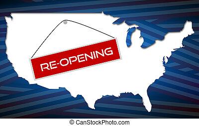 reopening, america, quarantena, periodo, secondo