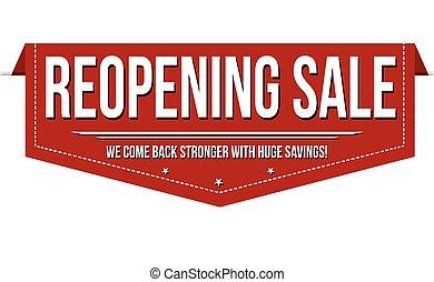 Reopening sale banner design