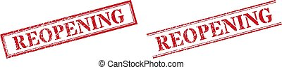 REOPENING Textured Scratched Stamp Watermarks with Double Rectangle Frame
