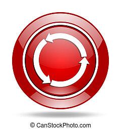 reorange yellow glossy web red web glossy round icon