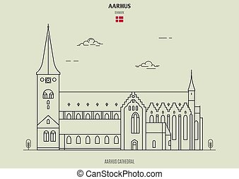repère, denmark., aarhus, cathédrale, icône