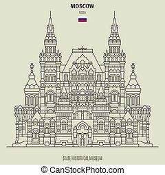 repère, musée, russia., état, icône, historique, moscou