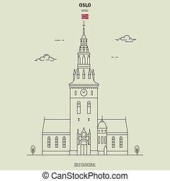 repère, oslo, norway., cathédrale, icône