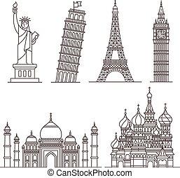 repère, vecteur, icons., illustration