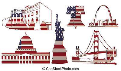 repères, (flag), nous