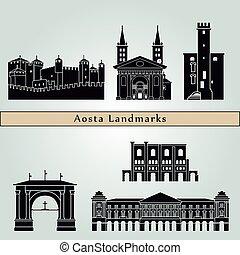 repères, monuments, aosta