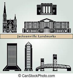 repères, monuments, jacksonville
