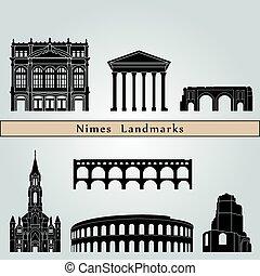 repères, nîmes, monuments