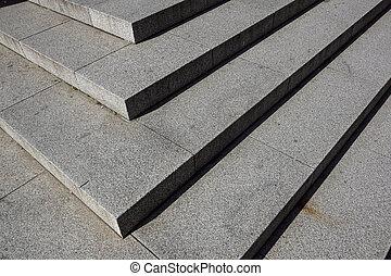 repères, pierre, diagonal, résumé, noir, escalier, photo, granit, ville, vu, souvent, étapes, monuments, large, escalier, escalier, blanc