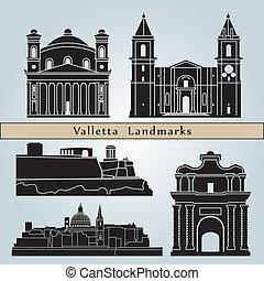 repères, valletta, monuments