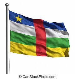 república, bandeira, central, africano