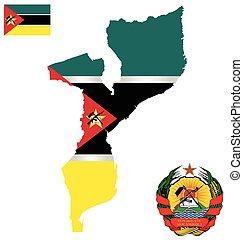 república, bandeira, moçambique