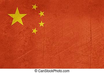 república, bandera, grunge, china, pueblos