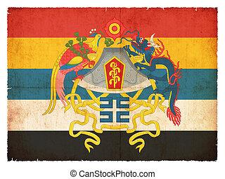 república, bandera, grunge, china