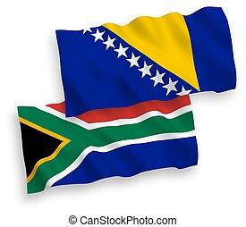 república, blanco, herzegovina, bosnia, sur, banderas, ...