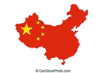 república, china, gente