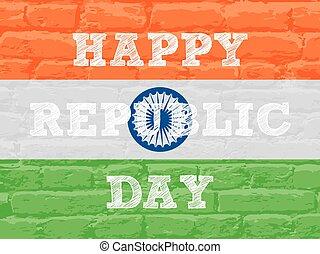 república, desenho, dia, feliz