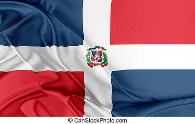 república, dominicano, flag.